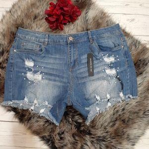 Dollhouse Dylan Denim Distressed Shorts